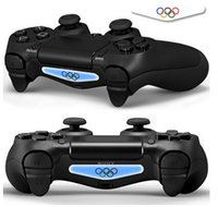 Cheap New 100pcs lot PVC Decal Skin Sticker For Play Station 4 PS4 Controller LED Light-Mix Order PS4 Console Controller Skin DIY Free Shipping