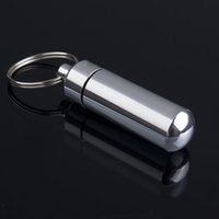 Wholesale 3pcs Keychain Pill Box WaterProof Silvery Aluminum Drug Case Bottle Holder Container Hot New Arrival