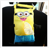 Wholesale Cartoon vehicle plush paper towel Hanging back Box Despicable Me Styles car accessories interior Car Paper Case Holder Bags R986