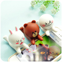 android action figures - line action figures Silicon Mobile holder stand for iPhone Plus Android cartoon mobile phone holder stand for iPad