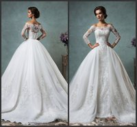 Cheap 2015 Amelia Sposa Mermaid Lace Wedding Dresses Sweetheart Sleeveless Celeste Bridal Gowns With Wrap Covered Button Detachable Court Train