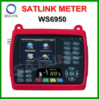 Wholesale 3 inch LCD SATLINK WS DVB S satellite finder satlink finder meter WS6950 satfinder single finder meter