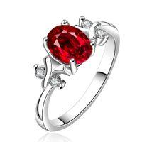 wedding rings - Wedding Rings High Quality Zircon Rings silver rings Austrian crystal rings red gemstone rings