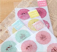 Wholesale 4cm Mixed Colors DIY Scrapbook Paper Printed Lace Stickers Decoration Sticker sheets