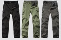Wholesale TAD shark skin softshell models Trousers windproof and waterproof hiking men s camouflage outdoor pants