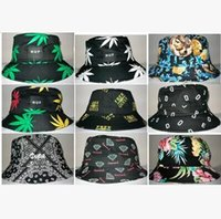 floral bucket hat - Men Women Cotton Brand Maple Weed Leaves Floral Bucket Hat Dicer Cap Outdoor Casual Sun Hat Fishing Hats Couple Diamond Paisley