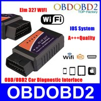 Wholesale Best Price Mini ELM327 WiFi ELM OBDII Car Diagnostic Tool OBD Scanner Interface For IOS Android ELM WiFi Multi Cars A3