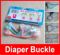 baby clasps - 2016 Child Baby Diaper Buckle Cloth Nappy Belt Fastener Diaper Fixing Essential lovely baby Small pull clasp
