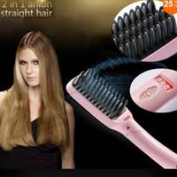 Precio de Salones para alisar el cabello-Pelo eléctrico auto del cepillo del pelo de la estrella de la manera de las nuevas mujeres de ArrivalWomen que endereza la herramienta casera del pelo del pelo del pelo del cepillo