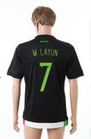 2015-2016 México # 7 camisetas de fútbol de la Copa América M.LAYUN Inicio Negro Soccer Jersey Top Tailandia Hombres calidad tailandesa Nueva Temporada de Fútbol Wear
