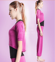 Cheap 2016 Sexy Winter Clothes Women Yoga Pants Vest Shirts Suits Ladies Fitness Cloth Mid Sleeve Yoga Wear Three-piece Fitness Clothing For Women