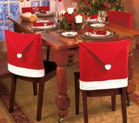 Wholesale Hot fashion Christmas Decoration Supplies for dining table home party Christmas chair cover or Christmas hat