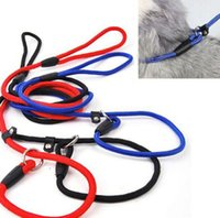 pet strap - New Arrivals Pet Dog Traction Collar Leash Supplies Slip Strap Adjustable Nylon Training Rope size CX280