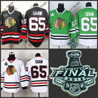 Wholesale New Arrivals andrew shaw Blackhawks red black white green Ice Hockey Jerseys Final Stanley Cup Patch Accept Mix order