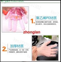 disposable gloves - Transparent Disposable Gloves for home cooking beauty New Disposable Plastic Glove Sanitary Restaurant Home BBQ Cook Kitchen Food DHL