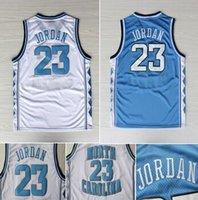 north carolina - North Carolina Michael Jordan Jersey High Quality Throwback Basketball Jersey Blue And White Jersey S XXL