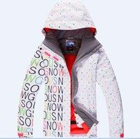 Wholesale new women s snowboarding ski jacket skiing clothing original Authentic snowboard suits
