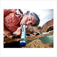 Wholesale 1pcs CCA2098 New Hot Sale Outdoor Portable Personal Water Purifier Treatment Survival Lifestraw Drink Tube Filter Life Straw tube