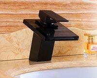 ceramic art basin - Waterfall Bathroom Sink Faucet Art Basin Mixer Tap Brass Oil Rubbed Bronze ORB Black Glass Spout Single Handle WONDLOV W1204