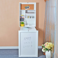 white bedroom furniture - USA Stock White Wall Mount Fold out Writing Desk Table Laptop workspace with Storage Shelves