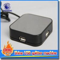 Wholesale Magic Mirror Port USB HUB Mirror Surface With Cord High Speed Special Shine Splitter Machine