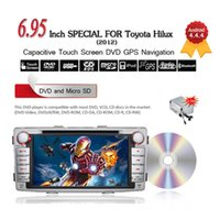 Wholesale 7 quot Din Android HD Touch Screen Car DVD Player GPS Radio Navigation G WIFI BT Stereo for Toyota Hilux