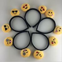 Wholesale 500pcs Hot sale emoji Girls Hair Clasp Cute Lovely QQ Hair Bands design Hair Sticks A