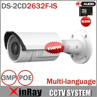 Wholesale Network IP Camera MP mm Vari focal Lens IR CCTV IP Camera IP66 DS CD2632F IS IP Security Camera