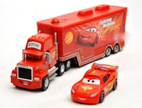 Wholesale Children toy pixar cars Mack and Mqeen children alloy toy model alloy red cars best christmas gift A548L