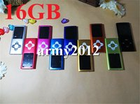 Wholesale Slim th plum button inch LCD GB mp4 player FM Video music mp3 player DHL with earphone usb cable retail box