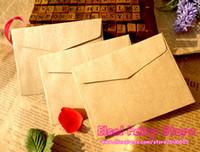 Wholesale New x7 cm Vintage Mini Plain Kraft Bag Blank Kraft Paper Envelope