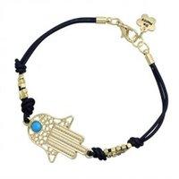 lots of turquoise jewelry - 50Pcs Mix Color Fashion Alloy Beads Hand of Fatima Finger Hamsa Bracelet Women Jewelry Mens Turquoise Evil Eye Leather Bracel