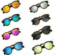 vintage frames - Vintage Retro sunglasses for women round Frame UV400 Brazilian Female Illesteva Color Film traveling cheap Sunglasses TYJ024