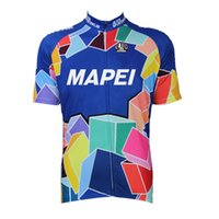 Wholesale Aliensports Cycling Jersy Short Sleeve MAPEI Retro Cycling Clothing Bike Sportswear Summer Cycling Jersey