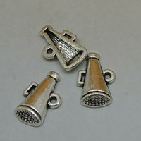 alloy trumpets - Single Sided Vintage Cheer Trumpet Shape Alloy Charms mm AAC1082