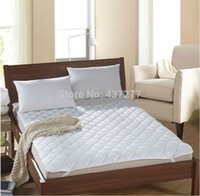 Wholesale New arrival pc white quilted Mattress Pad Protector cotton polyester fabric sizes for choice Mattress Cover