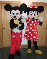 Venta directa de fábrica de alta calidad de Mickey Mouse de la mascota de Mickey Mouse traje de la mascota Envío Gratis
