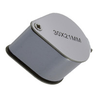 Wholesale Mini x x21mm Loupe Magnifier Magnifying Triplet Jewelers Eye Glass Jewelry Diamond Hot New Arrival