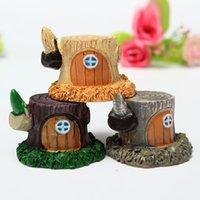Wholesale 1PCS Miniature Stump House Dollhouse Garden Fairy Ornament Pot Plant Craft Home Decor