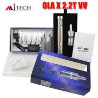 Cheap Authentic MJTech OLA X 2.2T VV starter kit variable wattage voltage 2200mAh battery e cig kit VS Carbon spinner 3 Itaste MVP 2.0 kits