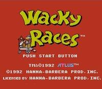 big racing games - Wacky Races Big Yellow Pins Bit Game Card