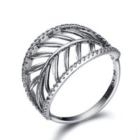 silver ring for women - New Arrival Leaves Crystal Ring European Charms Silver Fine Jewelry Rings For Women Birthday Wedding Anniversary Gift