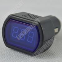 Wholesale Auto Car Cigarette Lighter Socket LED light Display V waterproof Electric cigarette lighter voltage digital panel meter