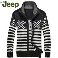 army jeep model - Autumn and winter explosion models JEEP men s casual fashion collar sweater knit sweater cotton striped sweater