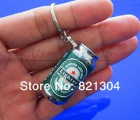 beer can lighter - New Novelty Beer Can Keyrin MINI Zip top Shape Electronic Flame Cigarette Lighter With Butance Gas Lovely Lighter Gift