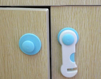 Wholesale 10pcs Baby Security Drawer Lock Multifunctional Eco friendly Plastic Child Safety Cabinet Door Lock For Kids T3197