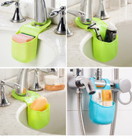 Wholesale 19 x8 cm Mini Bathroom Hasp Hook Shelves Soap Holder Kitchen Dish Cloth Sponge Holder Storage Newest Organizer hanging cup