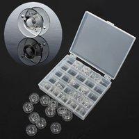 Wholesale Plastic Sewing Machine Spools Thread Storage Case Box with Single Bobbin F OS