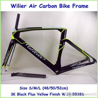 Wholesale Wilier Air Road Carbon Bike Frame Full Carbon With BB386 K Weave Bike Parts Size S M L Blue FluoYellow Color Bike Frame