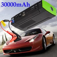Wholesale 30000mAh Car Emergency Power Supply Mini Jump Starter Charger Battery Car Starter Laptop Mobile Phone Tablet PC Power Bank Drop Ships